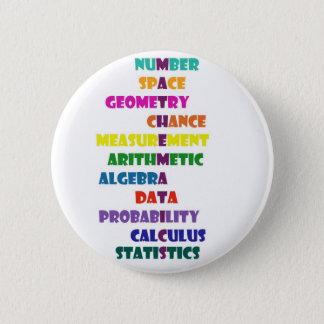Mathematics 6 Cm Round Badge
