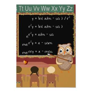 Mathematics Christmas Wish Card