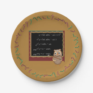 Mathematics Christmas Wish Paper Plate