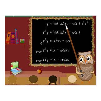 Mathematics Christmas Wish Postcard
