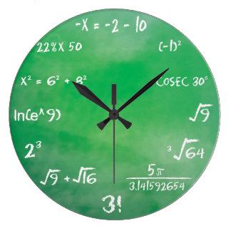 Mathematics Equation Quiz for Geeks Wall Clock