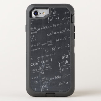 Mathematics Equations on Chalkboard Funny Geeky OtterBox Defender iPhone 8/7 Case
