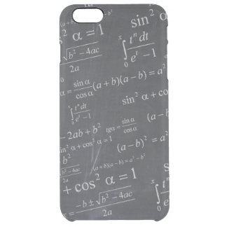Mathematics Formulas on Chalkboard - Funny Unique Clear iPhone 6 Plus Case