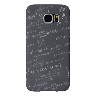 Mathematics Formulas on Chalkboard - Funny Unique Samsung Galaxy S6 Cases