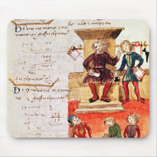 Mathematics Lesson, from a mathematical treatise Mousepads