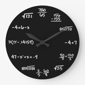 Mathematics Math Chalkboard Clock