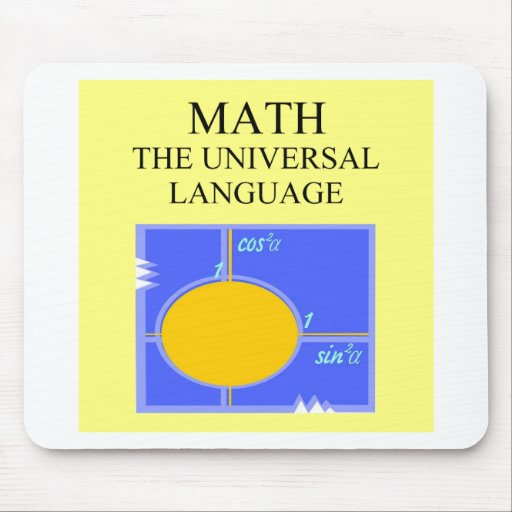 mathematics rules mouse pad