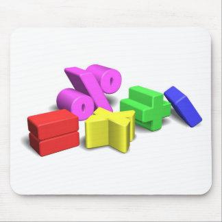 mathematics symbols mousepad