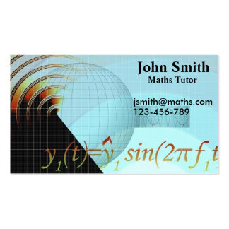 Mathematics tutor or teacher stylish advanced math business cards
