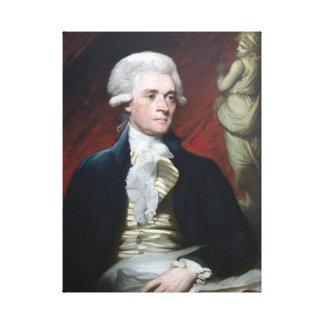 Mather Brown Portrait of Thomas Jefferson Canvas Print