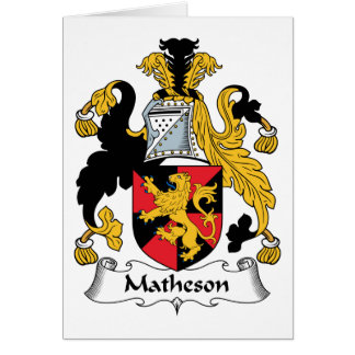 Matheson Family Crest Greeting Card