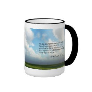 Mathew 17 : 20 mugs