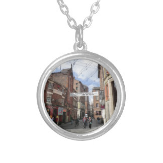 Mathew Street in Liverpool Silver Plated Necklace