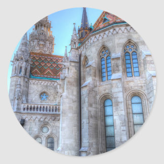 Mathias Church Budapest Classic Round Sticker