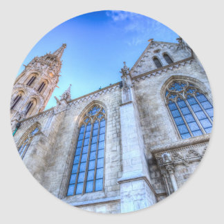 Mathias Church Budapest Classic Round Sticker