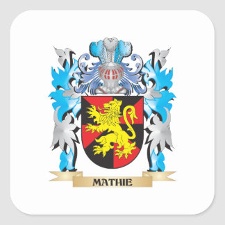 Mathie Coat of Arms - Family Crest Square Sticker