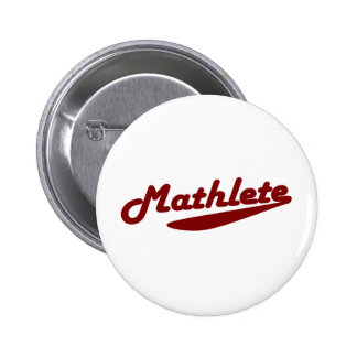 Mathlete Pinback Button