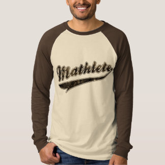 Mathlete - baseball t-shirt