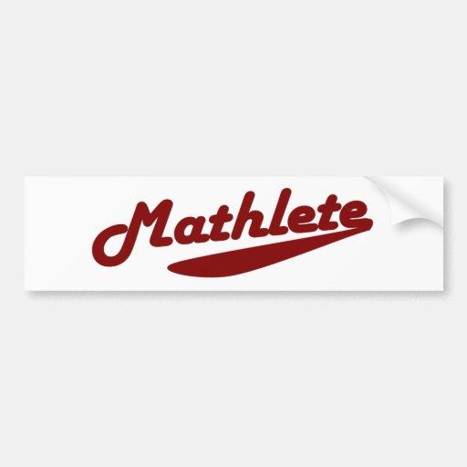 Mathlete Bumper Stickers