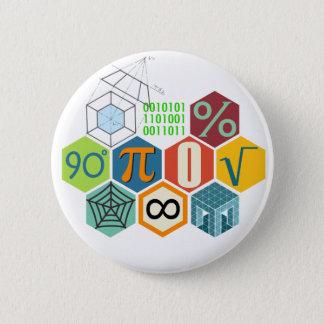 maths 6 cm round badge