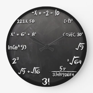 Maths Equation Clock (Black)
