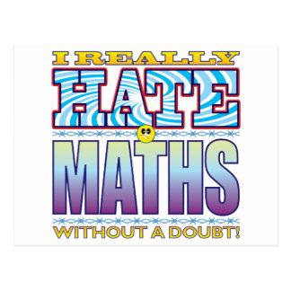 Maths Hate Face Postcard