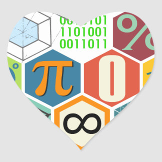maths heart sticker