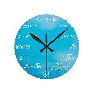 Maths Quiz Clock - Clock Blue