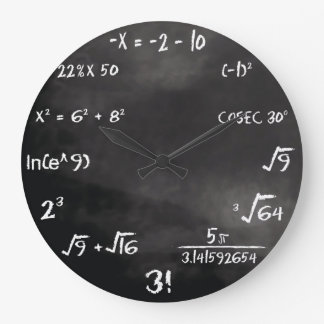 Maths Quiz Round Clock (Custom)