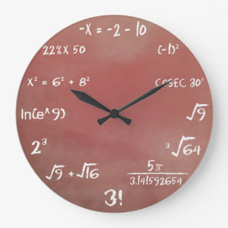 Maths Quiz Wall Clock