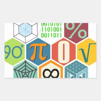 maths rectangular sticker