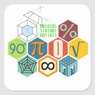 maths square sticker
