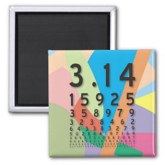 Maths: the colorful mathematical constant of Pi Fridge Magnet