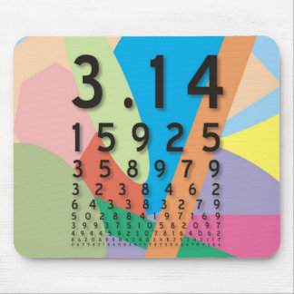 Maths: the colorful mathematical constant of Pi Mouse Pads