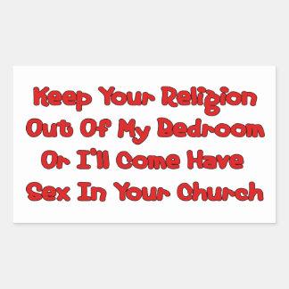 Mating In Your Church Rectangular Sticker