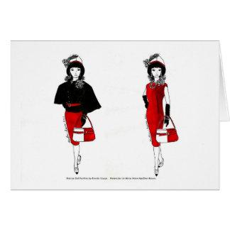 Matisse Doll Fashion Watercolor - Black Cape Card