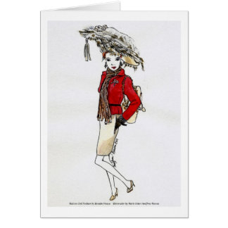 Matisse Doll Fashion Watercolor- Cherries Jubbilee Card