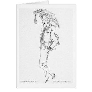 Matisse Doll Fashion Watercolor- Cherries Jubilee Card