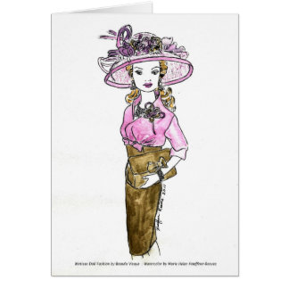 Matisse Doll Fashion Watercolor - Parfait Pink Card