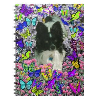Matisse in Butterflies II - White & Black Papillon Spiral Note Book