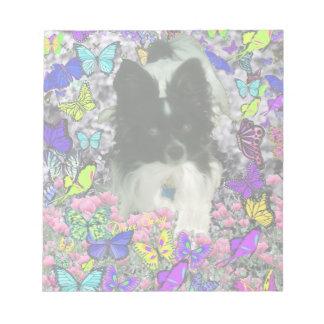 Matisse in Butterflies II - White Black Papillon Memo Notepads