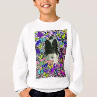 Matisse in Butterflies II - White & Black Papillon Sweatshirt