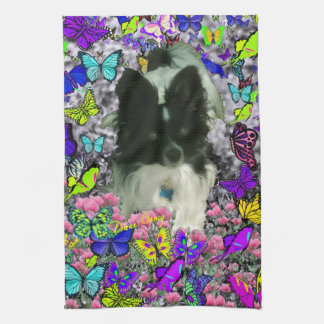 Matisse in Butterflies II - White & Black Papillon Kitchen Towels