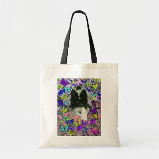 Matisse in Butterflies II - White & Black Papillon Tote Bag