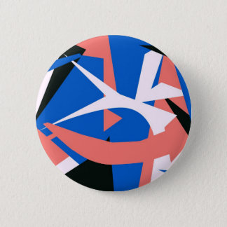 Matissian Abstract 6 Cm Round Badge