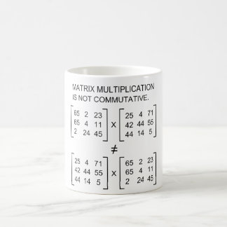 Matrix multiplication mug