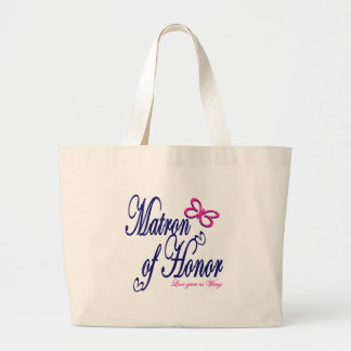 Matron of Honor / Butterfly Jumbo Tote Bag