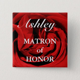Matron Of Honor Button