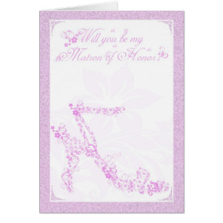 Matron of Honor Card, Will you be my Bridesmaid fl Card