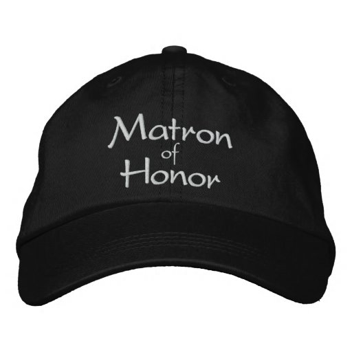 MATRON OF HONOR EMBROIDERED WEDDING CAP BASEBALL CAP